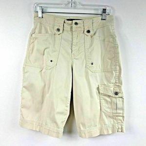 Gloria Vanderbilt Cargo Shorts 11 In Inseam Beige